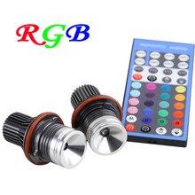 Control remoto RGB LED marker Ojos del Ángulo multi-color de halo anillo de luz 12 V de Canbus Para BMW E39 E53 E60 E61 E63 E64 E65 E66 X5