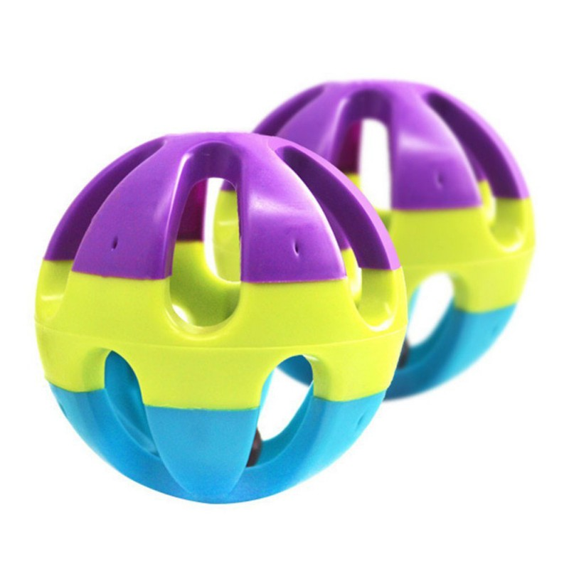 Parrot Bells Ball Toy Pet Kickng Chewing Toys Multicolor Cockatiel Small Pet Favorite Chase Game Toy Bird Supplies
