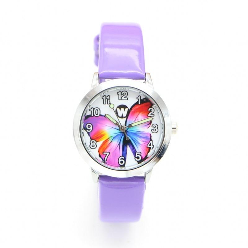 New Butterfly Desgin Kids Watch Fashion Ladies Watches Quartz Children Jelly Boy Girl Student Wristwatch Relogio Kol Saati Clock