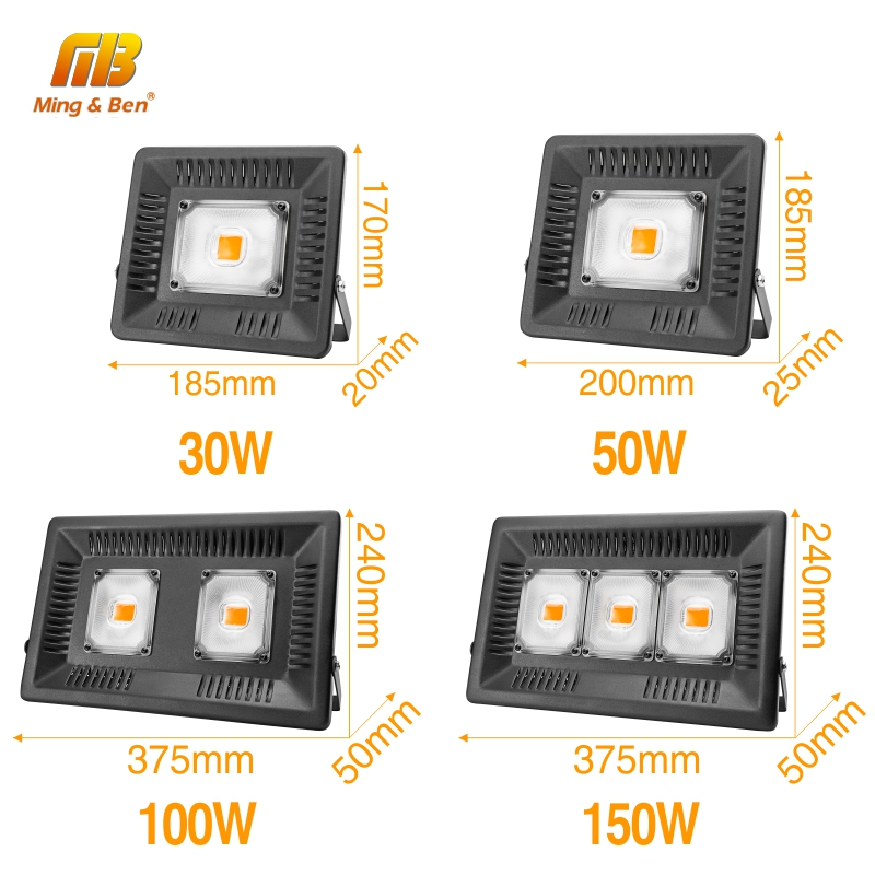 Image 4 - Full Spectrum Lamp LED Growing Light 50W 100W 150W AC 110V 220V High power Outdoor Waterproof for Greenhouse hydroponics seeding-in LED Grow Lights from Lights & Lighting