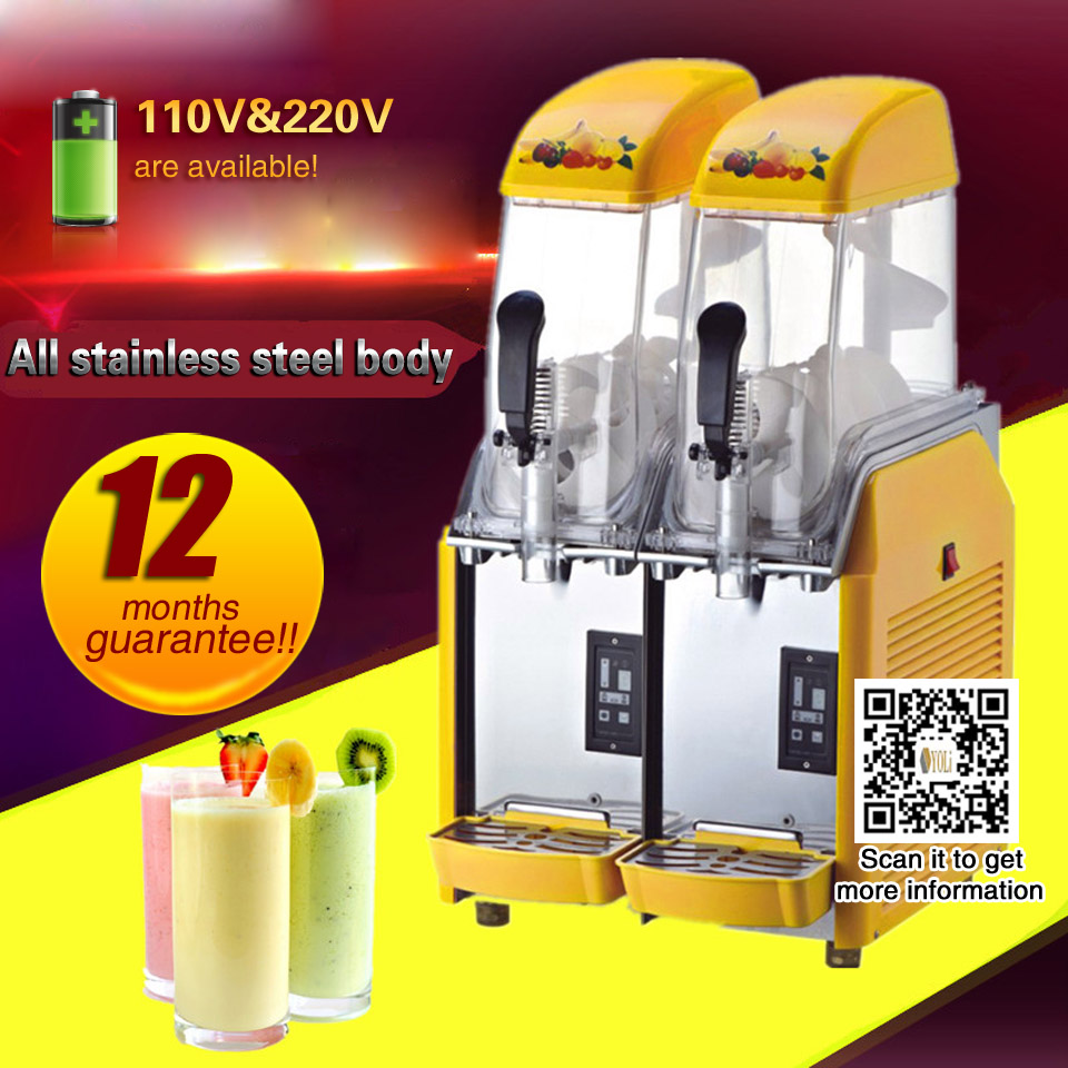 Slushy Machine Frozen Drink Machine 24L/2 Tank Commercial Slush Make Machine Smoothie Maker