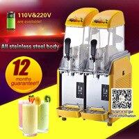 Slushy Machine Frozen Drink Machine 24L/2 Tank Commercial Slush Make Machine Smoothie Maker