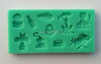 Wholesale 3D Silicone Mold 1Pcs Lot Kittens Shapes Cake Chocolate Candy Jello Silicone Decorating Mold Tools