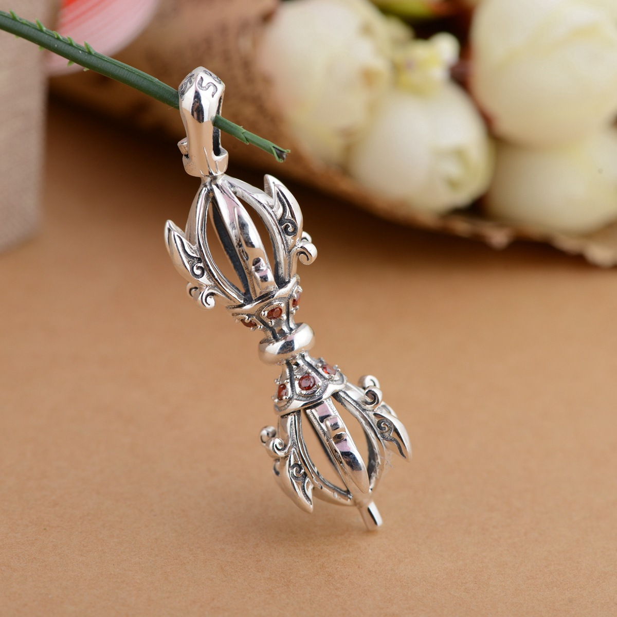 pendant S925 Sterling Silver Antique Crafts wholesale Vajra talisman to ward off evil spirits the peace one generation