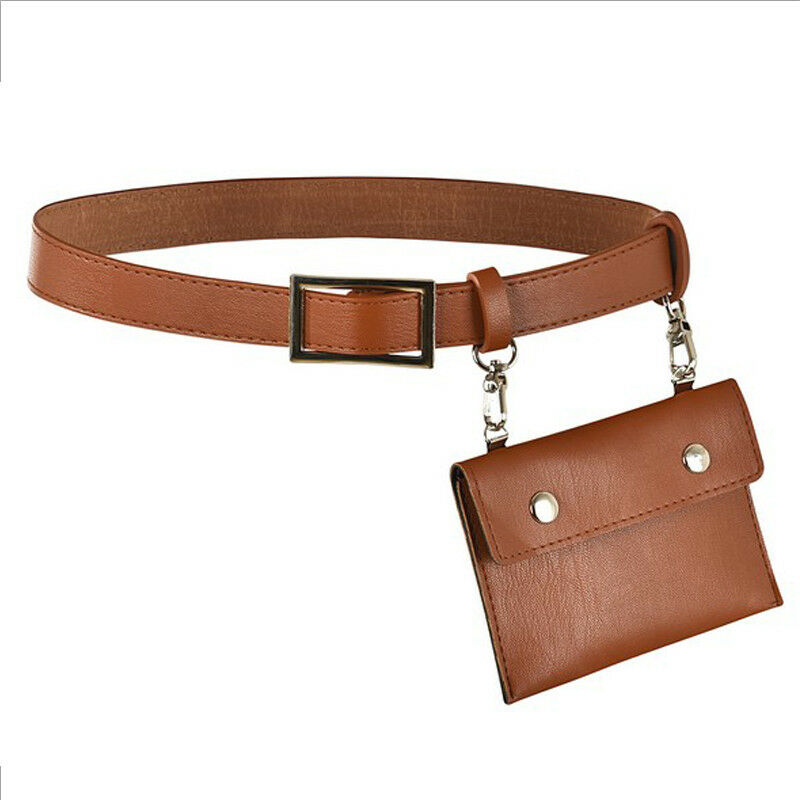 New Belt Bag Women's Fashion Waist Bag Envelope Pu Leather British Style Mini Purse Portable