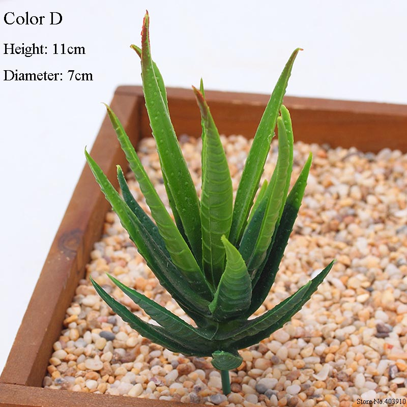 1PCS Mini Artificial Fleshiness Cactus Fake Succulent Plants Real Palm Bonsai Landscape Decorative Flower For Home Table Decor in Artificial Plants from Home Garden
