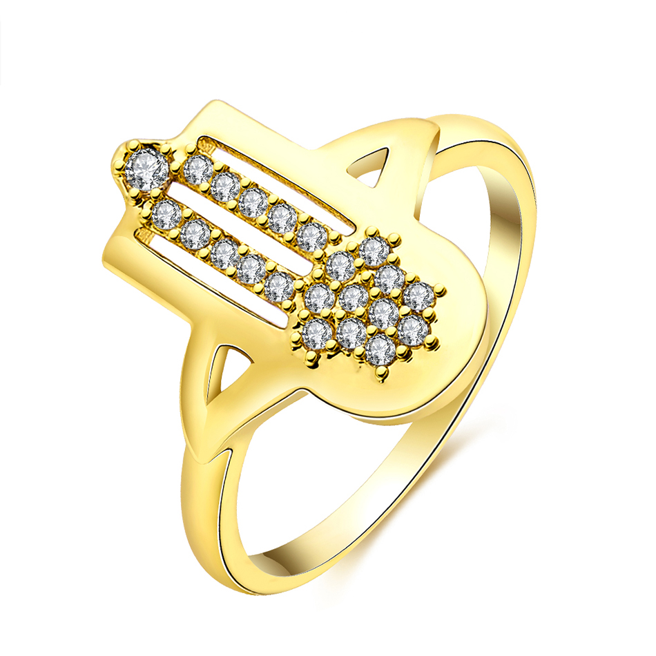 unique creative design wedding bridal ring women rings gold color engagement ring with aaa cubic zircon - Creative Wedding Rings