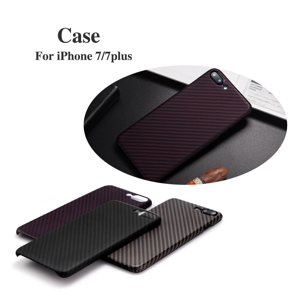 Real Carbon Fiber Mobile Phone Shell Case For Apple iPhone 7 7 PLUS Case RED/Black/Brown Phone Protector Cell g case card holder canvas leather stand mobile phone case for iphone 7 black