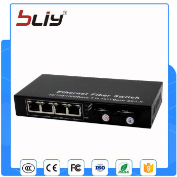 2G4E 2 gigabit fiber port 4 gigabit rj45 port fiber optic converter rj45 switch gigabit