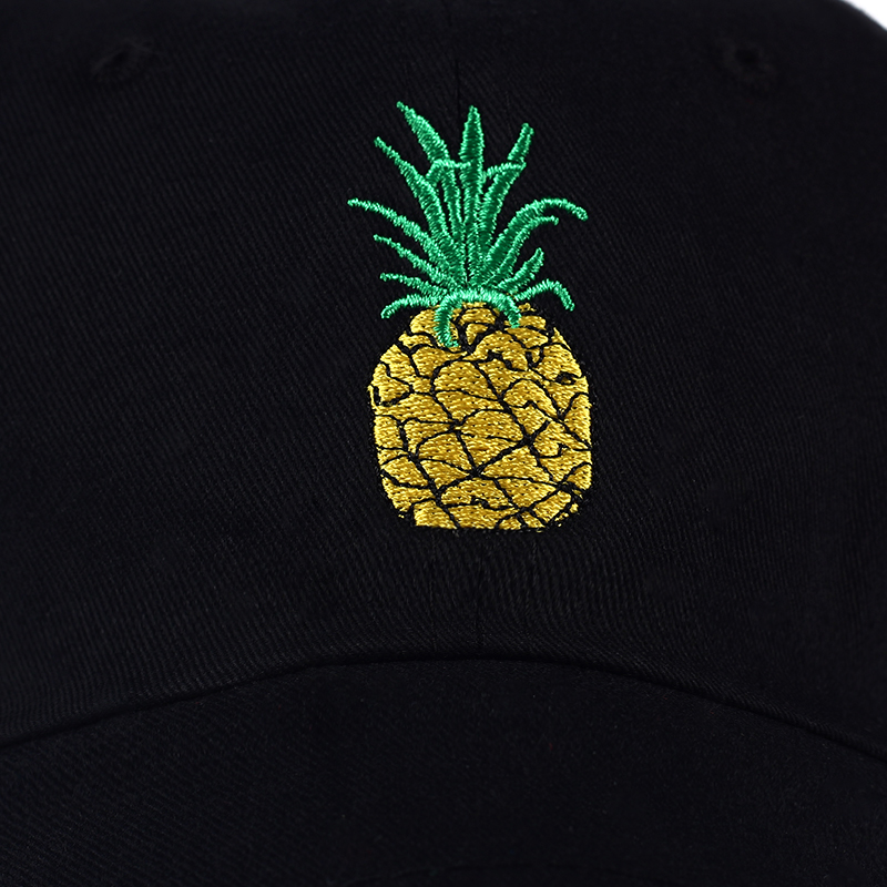 TUNICA Pineapple Embroidery Baseball Cap Cotton 100% Hipster Hat Fruit Pineapple Dad Hat Hip Hop Cotton Snapback Cap hats 4