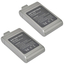 2X 21.6V 2000mAh High Capacity Li-ion Rechargeable Battery Pack for D yson DC16,12097,912433-01, 912433-03, 912433-04 Gray
