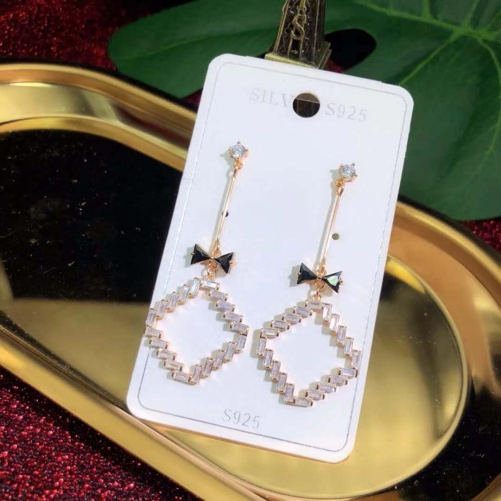 JOOCHEER Sterling S925 silver 925 trendy ethnic cute romantic Earring dorp earrings star classi Triangle fashion honeybee trendy