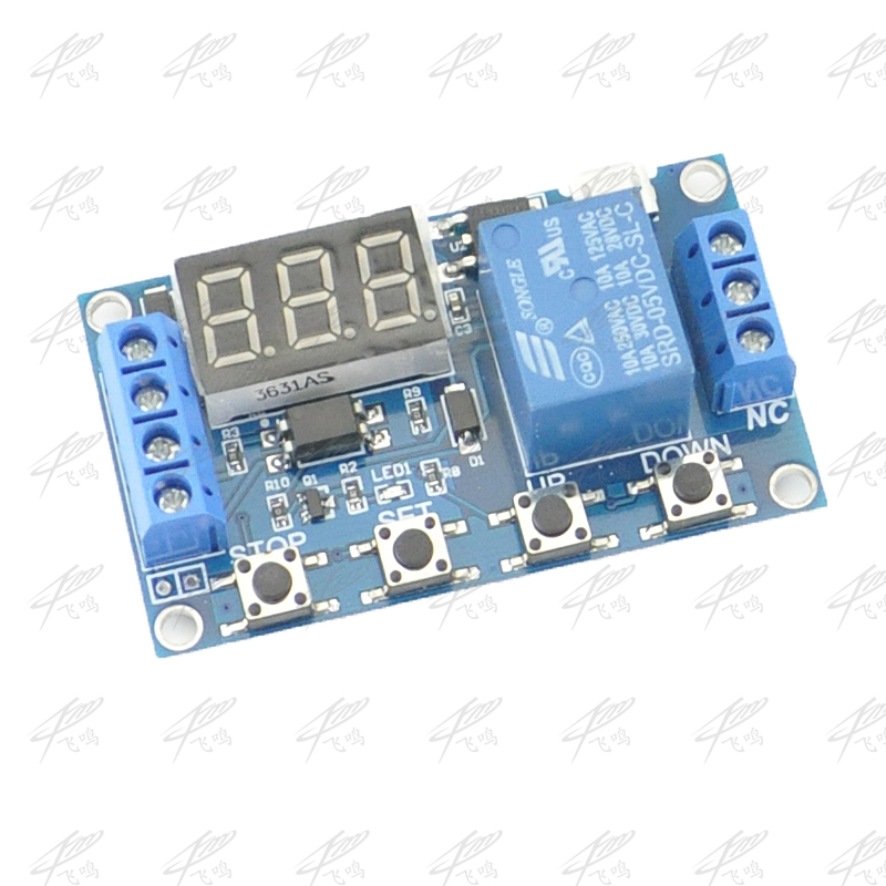 6-30V Relay Module Switch Trigger Time Delay Circuit Timer Cycle Adjustable dc 5 36v dual road mos tube module dc12v 24v trigger cycle timing delay switch circuit for controlling motor lights led etc