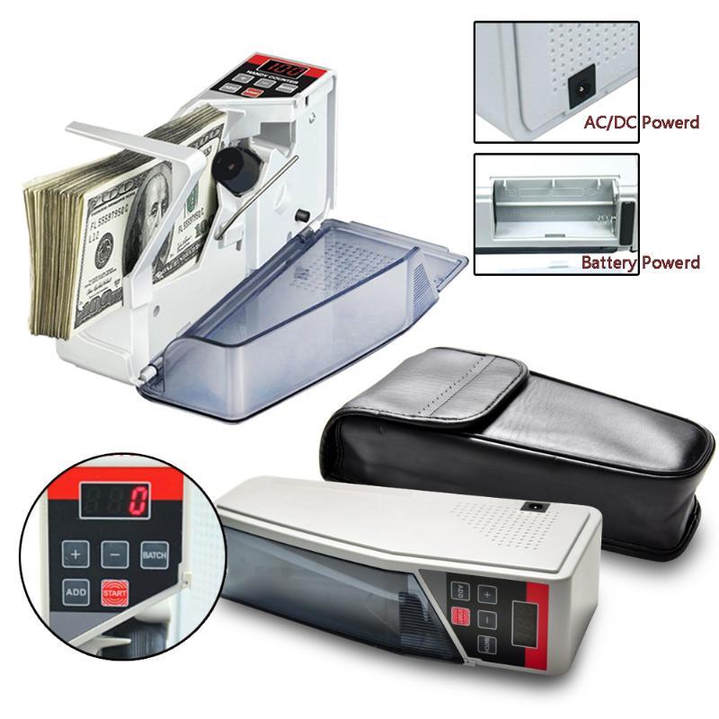 Портативный Handy счетчик денег для большинства валют Примечание счета наличных счетных машин EU-V40 финансового оборудования