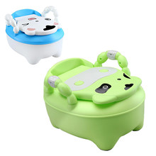 Portable Baby Pot Cartoon Toilet Seat Potty Toilet Bowl Training Pan Children's pot Kids Bedpan Comfortable Backrest Cute Pots(China)