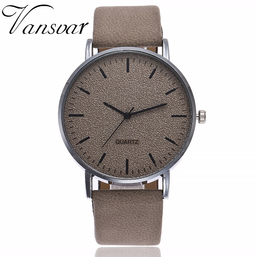 Drop Shipping Fashion 2018 Unisex Watches Women Men Casual Leather Hour Quartz Analog Wrist Watches Clock Relogio Feminino vansvar brand fashion casual relogio feminino vintage leather women quartz wrist watch gift clock drop shipping 1903