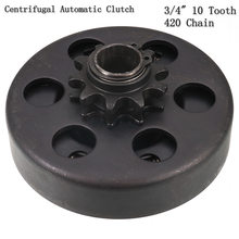 "19mm GO Kart Fun Centrifugal Automatic Clutch 3/4"" 10 Tooth 420 Chain for Karting(China)"