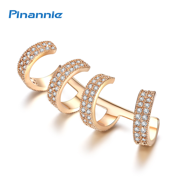 Pinannie Rhodium Plated Cubic Zirconia Earrings Jackets Fashion Jewelry For Women
