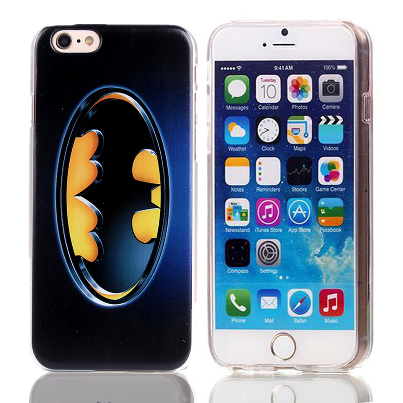 2016 New Style Black with Gold Color Painted Batman Phone Case for iPhone6 6S Hard Case for apple iphone 6 6s 4.7″