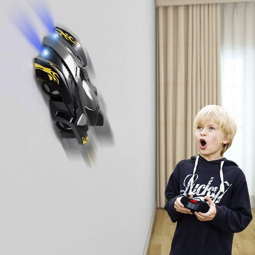 UTTORA RC Stunt Wall Climbing Car Dual Mode 360 Degree Rotating Car with Remote Control Head and Rear LED Lights Intelligent GloUTTORA RC Stunt Wall Climbing Car Dual Mode 360 Degree Rotating Car with Remote Control Head and Rear LED Lights Intelligent Glo