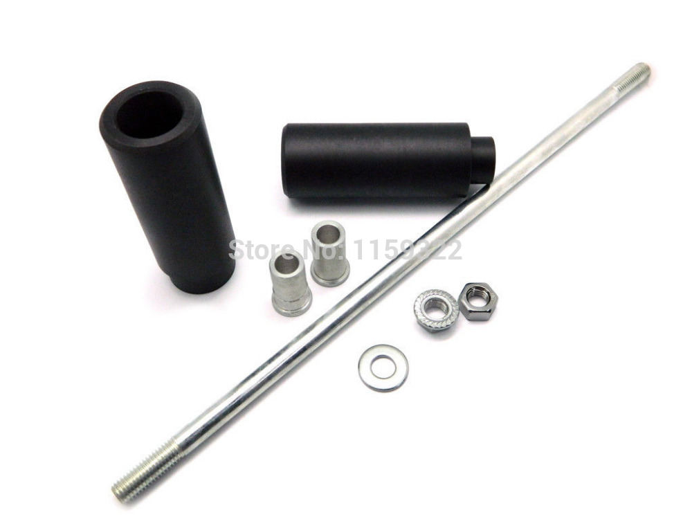 Motorcycle Parts Black No Cut Crash Protector For Suzuki Sv650 Sv1000 All Year Frame Sliders