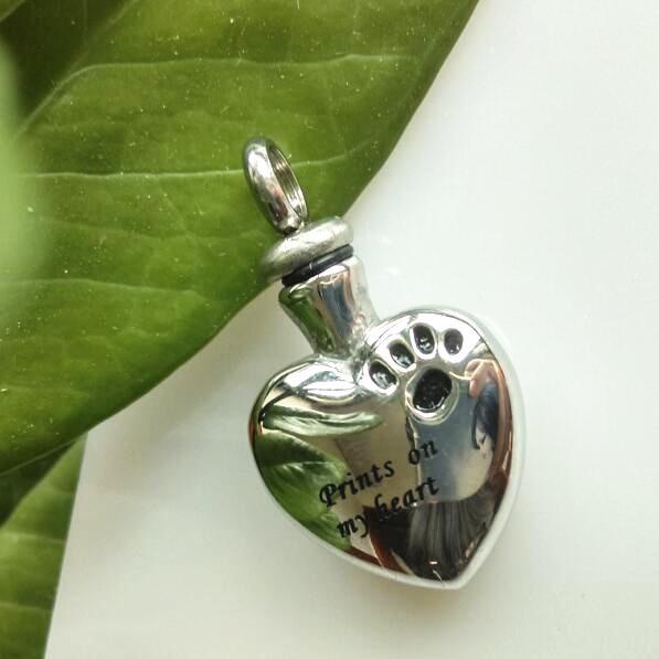 Prints on My Heart Urn Pendant