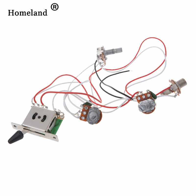 wiring harness kit 5 way switch 500k pots for fender  guitar fender wiring harness pickup