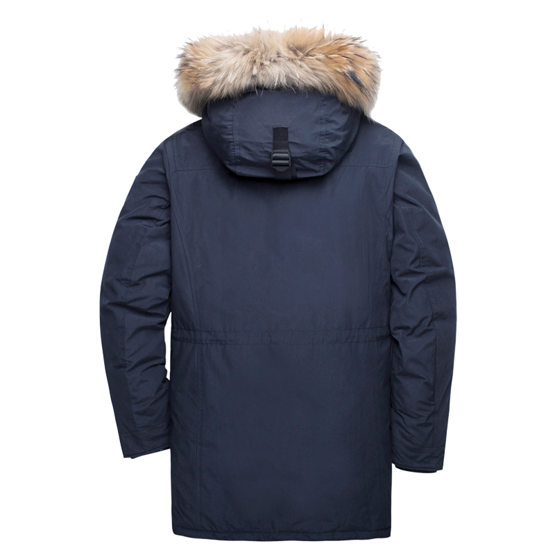 Image 3 - TIGER FORCE Alaska Winter Jacket for Men Parka Waterproof Thicken Coat  Jackets with Real Fur Hood Male Snowjacket Outwear-in Parkas from Men's Clothing