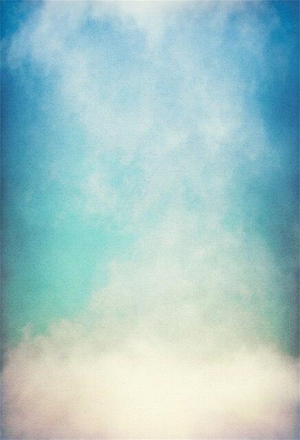 Laeacco Gradient Blue Baby Newborn Portrait Photographic Backgrounds
