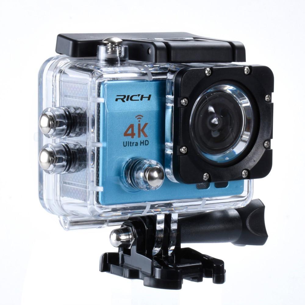 Экшн-камера 4K Ultra HD wifi 1080 P/30fps 2,0 lcd 170 объектив для дайвинга Водонепроницаемая 30M DV go Camel pro спортивная камера