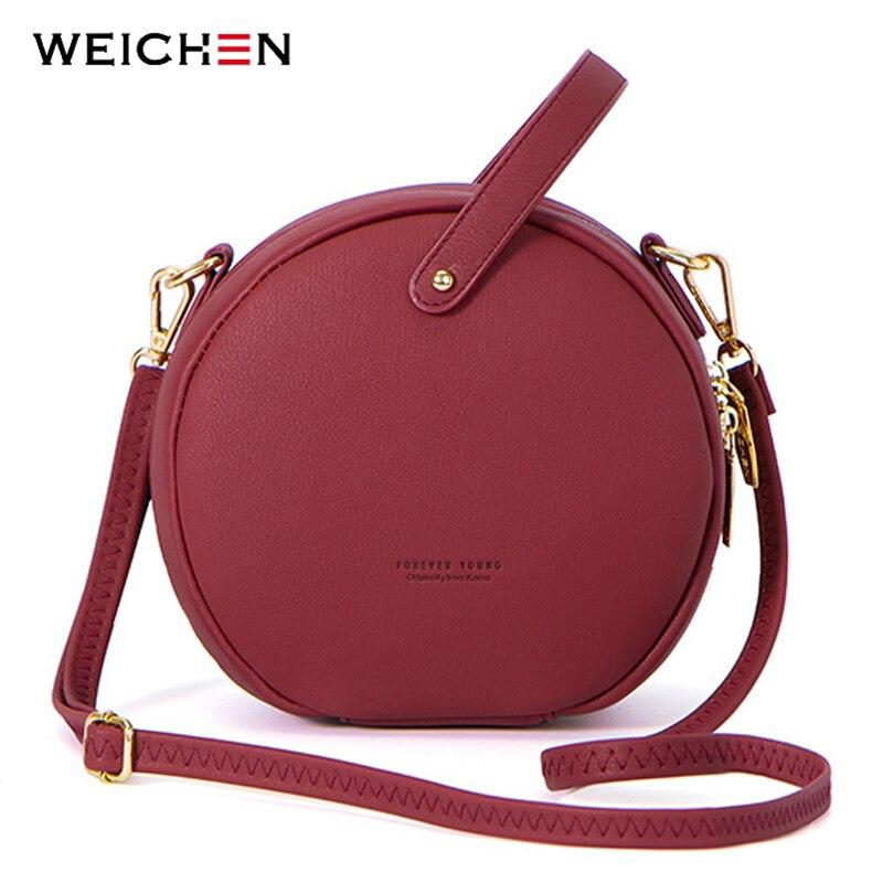 Caliente diseño Circular de las mujeres de la moda Bolsa de hombro de cuero bolso de la mujer, bolsos de mensajero, bolso redondo mujeres Bolsa bolso