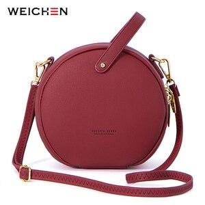 Image 1 - HOT Circular Design Fashion Women Shoulder Bag Leather Womens Crossbody Messenger Bags Ladies Purse Female Round Bolsa Handbag