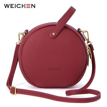 HOT Circular Design Fashion Women Shoulder Bag Leather Women's Crossbody Messenger Bags Ladies Purse Female Round Bolsa Handbag