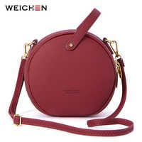 Moda feminina bolsa de ombro de couro crossbody sacos do mensageiro das senhoras bolsa feminina redonda bolsa