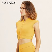 Front Zipper Push Up Women Sports Brassiere Padded Shockproof Breathable Tops Fitness Gym Quick Dry Yoga Bra Top