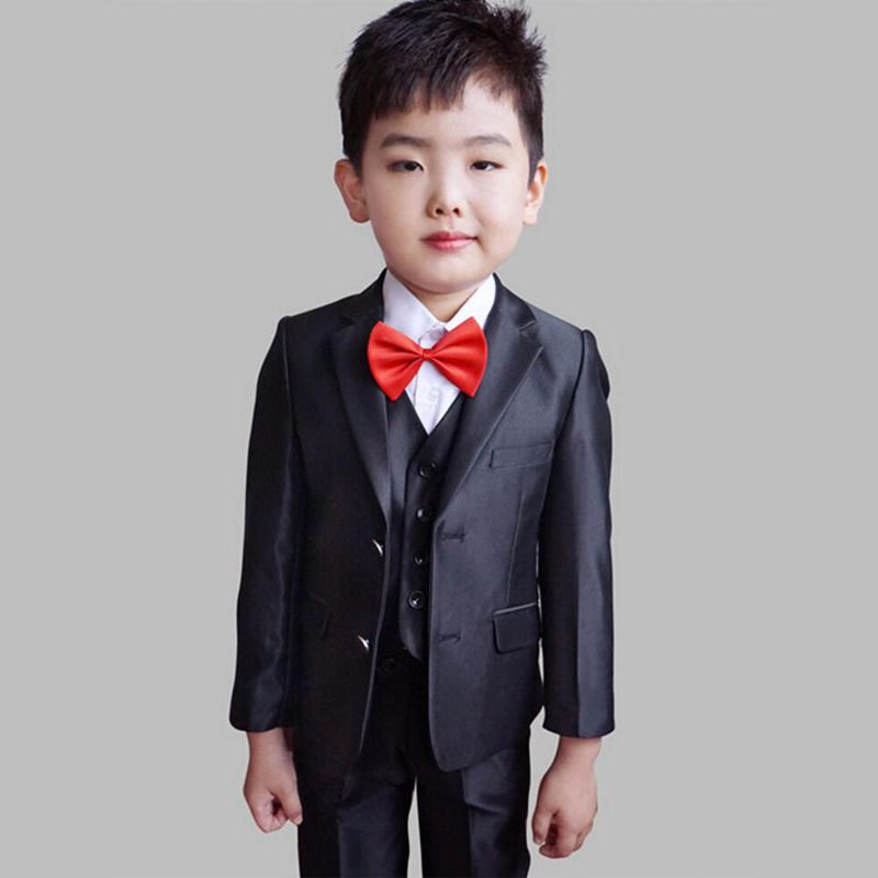 Boys Wedding suits Kids Dress suit Page boy Outfits Jacket Vest Trouser 3PCS Autumn Clothing sets for Boys Prom suit 2016 new arrival fashion baby boys kids blazers boy suit for weddings prom formal wine red white dress wedding boy suits