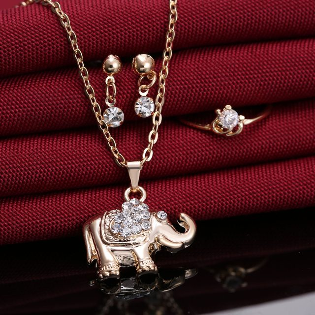 Online shop rinhoo animal jewelry set elephant pendant necklace gold rinhoo animal jewelry set elephant pendant necklace gold jewelry sets for women wedding engagement jewelry valentines day gift aloadofball Images