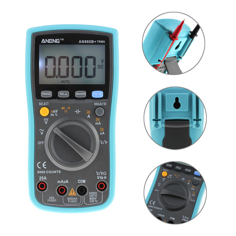 LCD Digital Multimeter AC/DC Current Voltmeter Ohm Portable Meter  Resistance Multi Tester 6000 counts Backlight