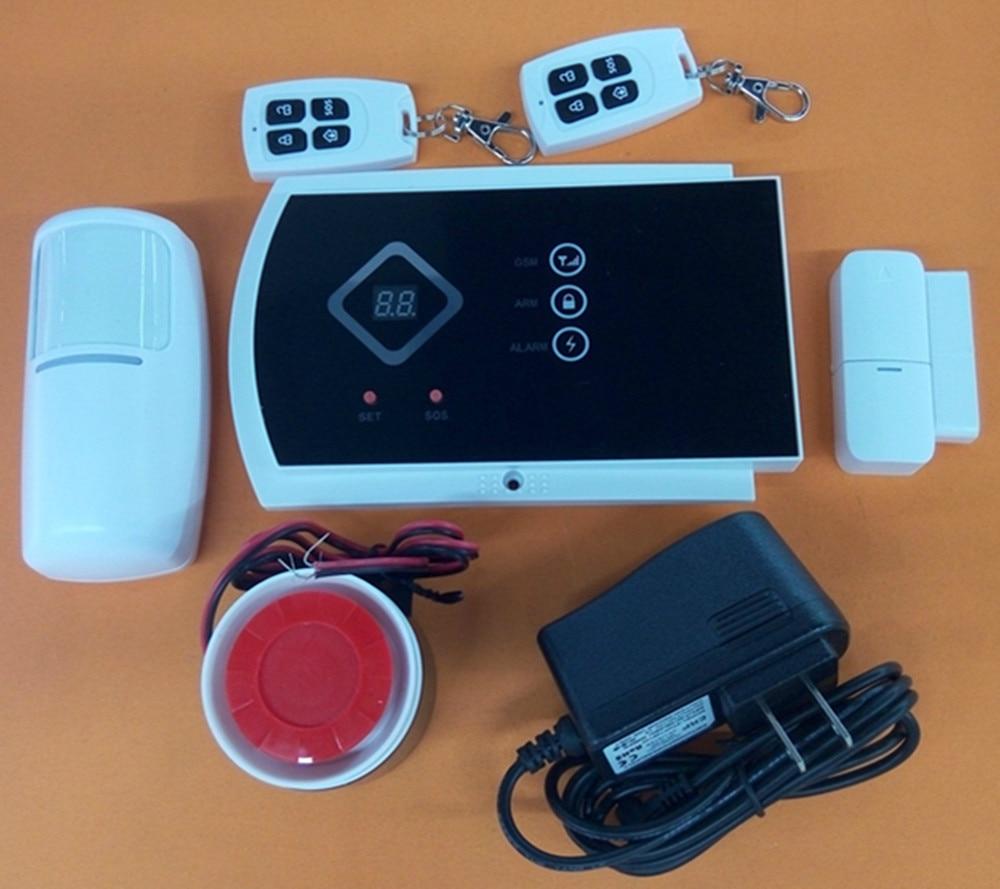 New Arrival APP Control Wireless Burglar Alarm System 433Mhz Motion Detector GSM Alarm 99 wireless zone 433mhz app remote control gsm gprs alarm system