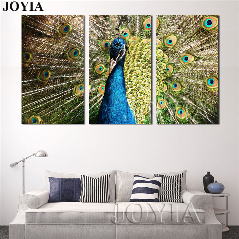 PEACOCK WALL ART CANVAS PRINT PICTURE VARIETY OF SIZES