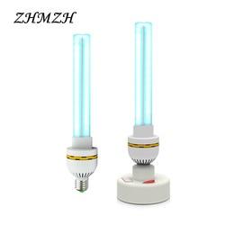 220 V UVC ultravioleta germicida lámpara E27 hogar esterilización lámparas de desinfección UV luces 15 W 20 W 30 W de alta esterilizador de ozono