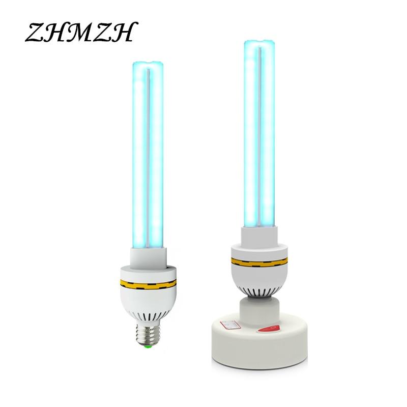 220V UVC Ultraviolet Germicidal Lamp E27 Household Sterilization Lamps UV Disinfection Lights 15W 20W 30W High Ozone Sterilizer
