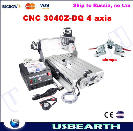 3D CNC router 3040 Z-DQ engraving machine, easy use cnc milling machine, free tax to Russia metal engraving machine 3040 engraver 800w cnc machine to eu country free tax