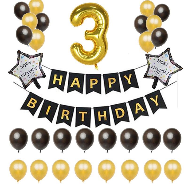 Extra Grande De Oro 30th Cumpleaño Foil Balloon Decoración Fiesta edad 30 números