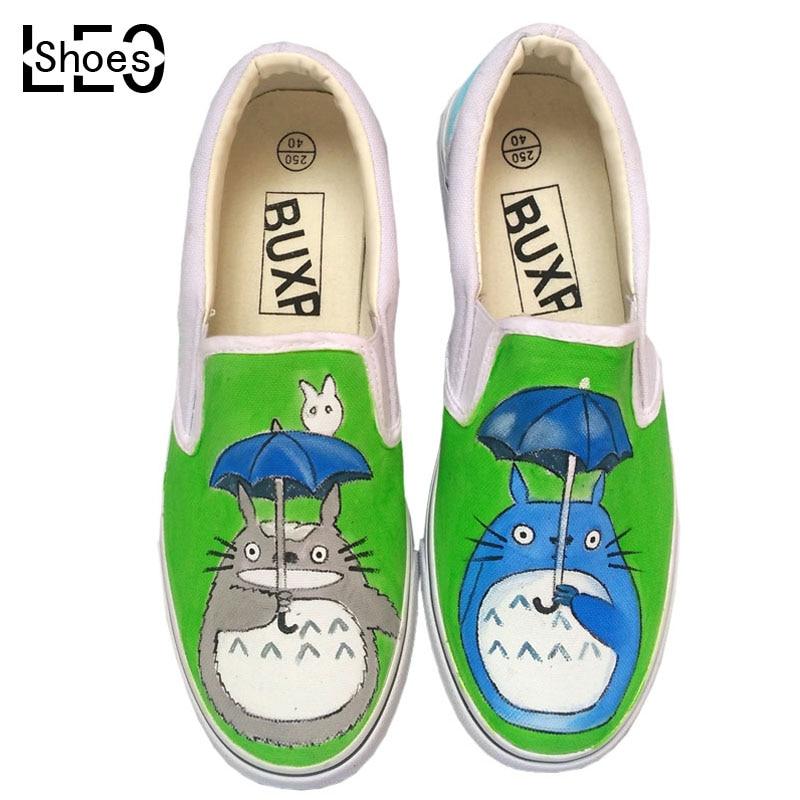 Personaje de dibujos animados de Graffiti Zapatos de Lona Totoro Niño Infantil Chicos Chicas Anime Totoro