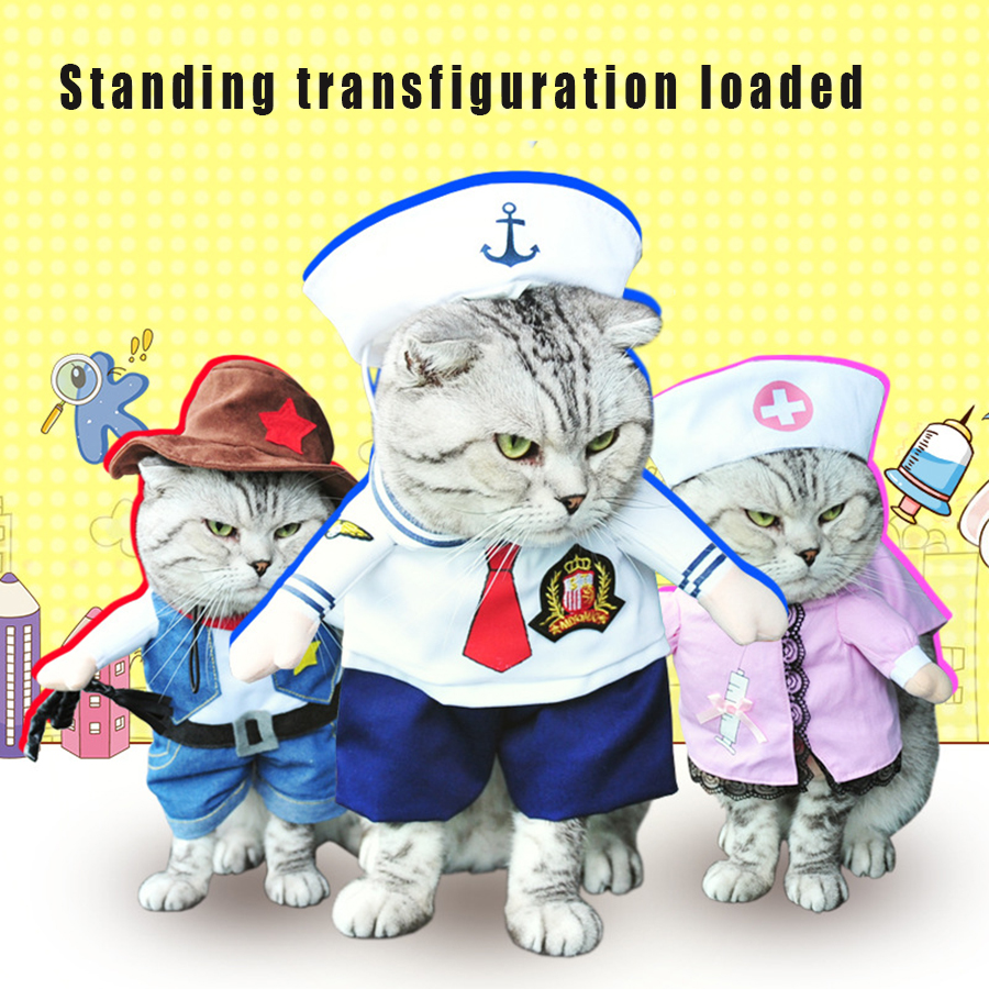 Pet Costume Cats Dress Funny Cat Clothes Nurses Clothes Cats And Dog Winter Clothing Cat Malchivov Costume QQM1916