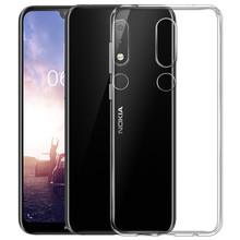 Transparent Cover For Nokia 9 8 7 6 5 3 2Anti-Scratch Case For Nokia X6 X5 6.1 5 .1 3.1 Full Protection of Drop Resistant Case(China)