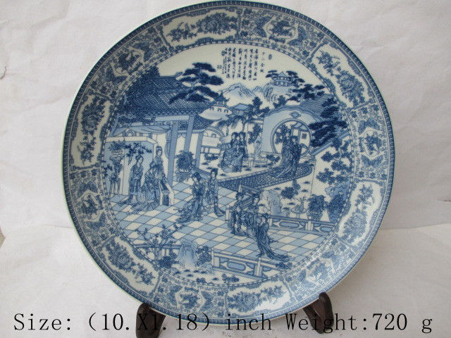 Chinese classic a dream of red mansions.(twelve gold hair pin) porcelain plate