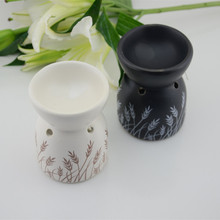 Black And White Fashion Ceramic Aromatherapy Furnace Candle Oil Lamp Gifts And Crafts Home Decorations Essential Oil Burner