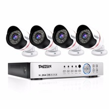 Tmezon AHD 4CH 2MP 1080P CCTV Home Security System 4pcs 1080P Day Night Waterproof IR Camera Alarm Systems Security 1TB 2TB Kit
